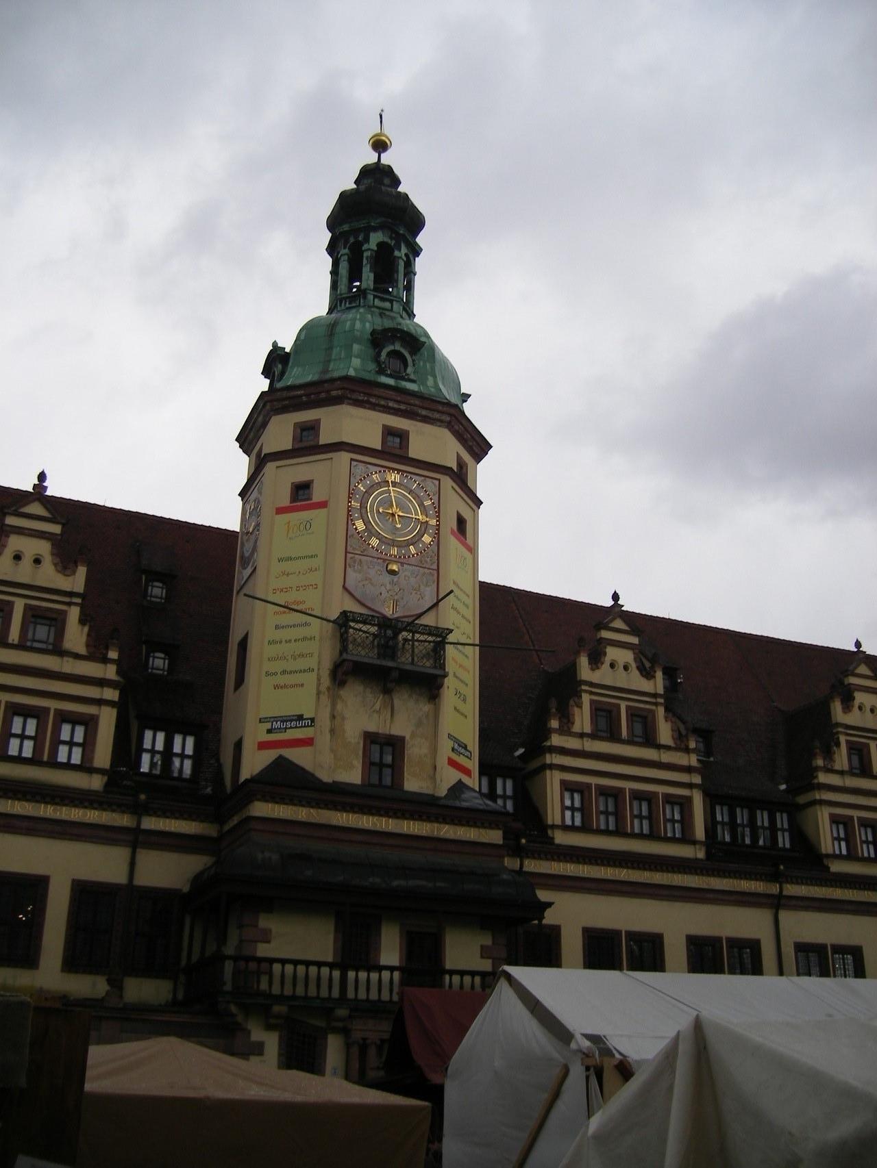 Leipzig 2015 Marktplatz Buchrose Glasfedern