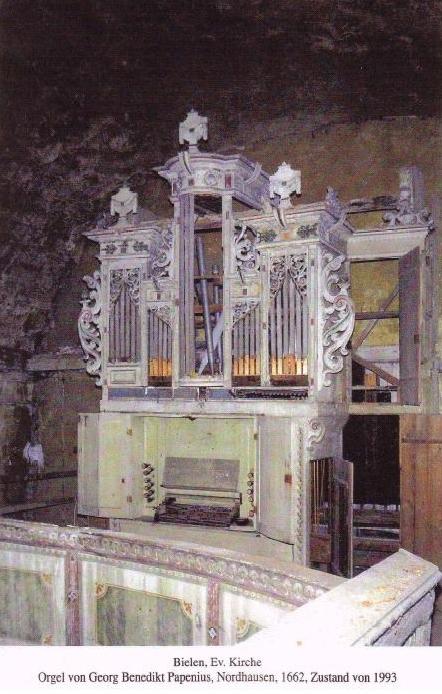 Orgel von 1662: Zustand 1993