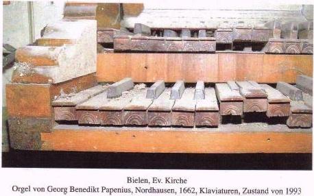 unbrauchbare Orgel von 1662