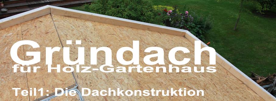 Gründach für Holz-Gartenhaus - Blockbohlenhaus