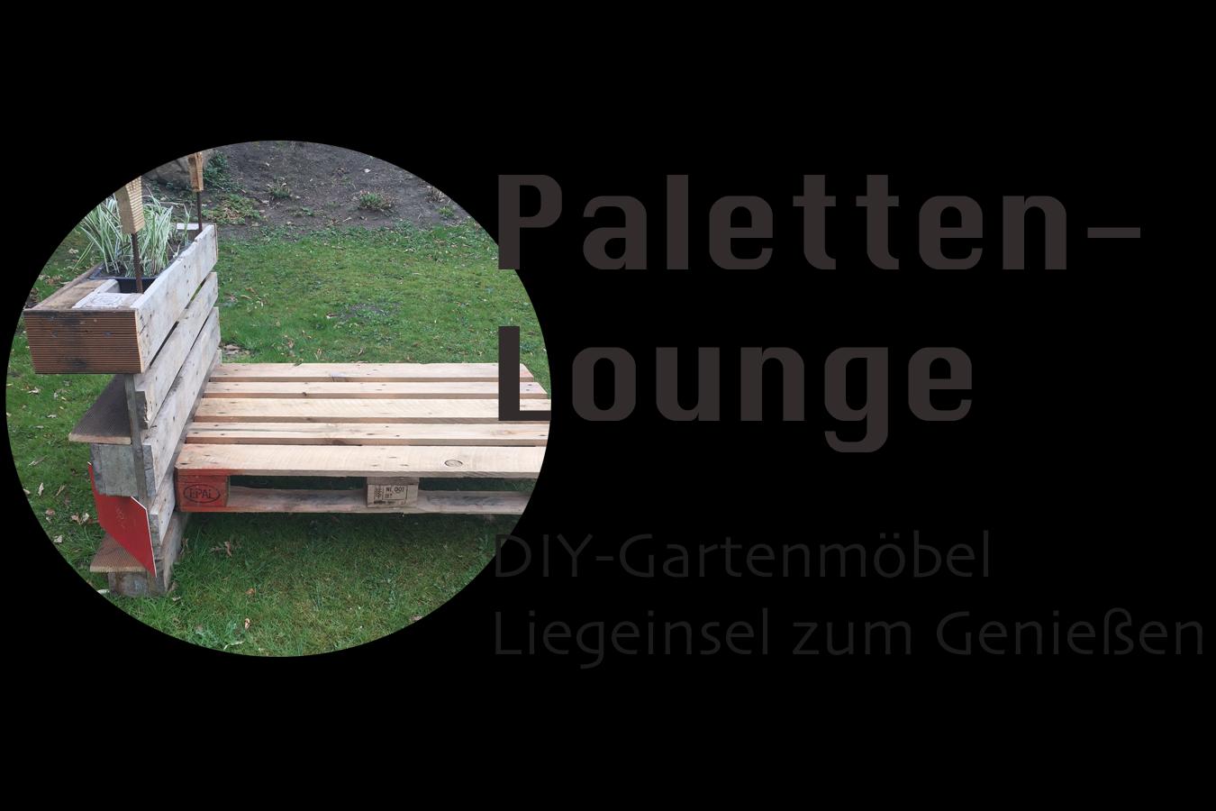 Liegeinsel selber bauen  Alles paletti! Die königliche Paletten-Lounge für jeden Garten ...