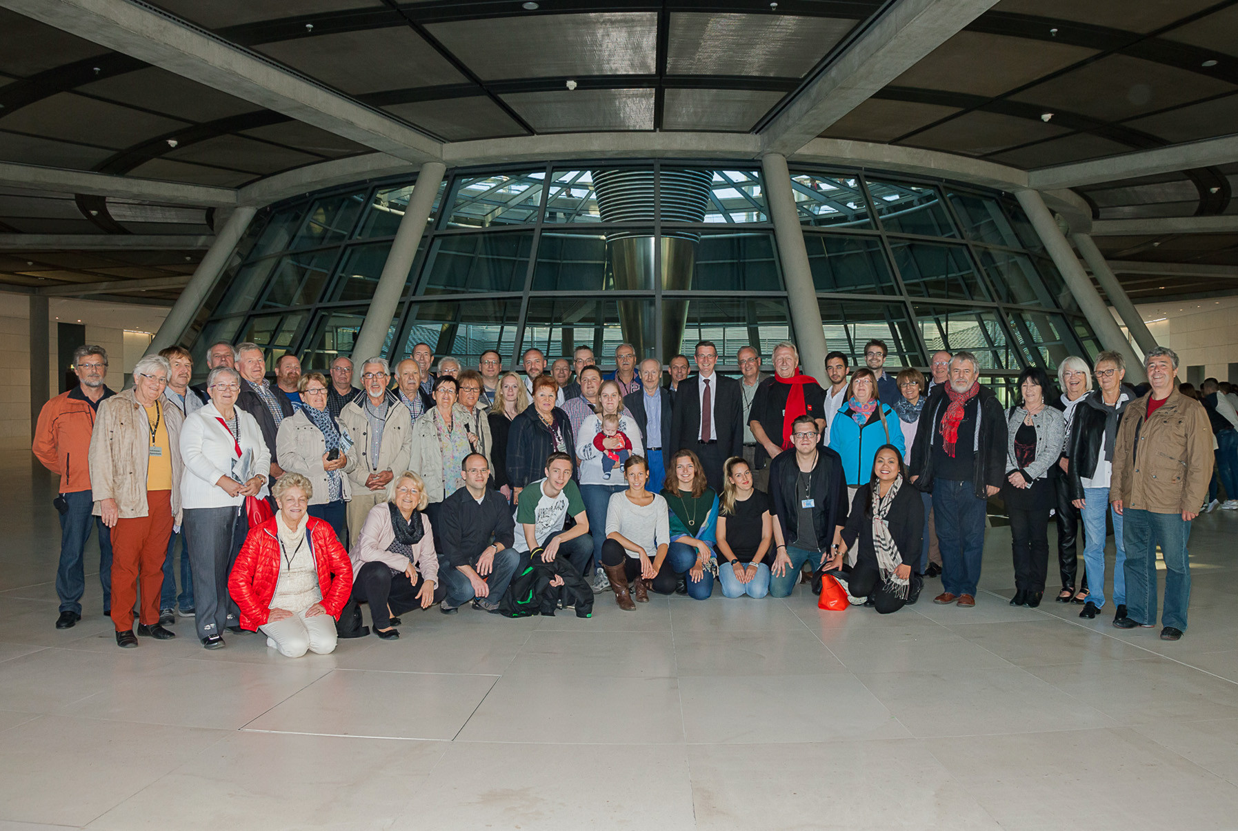 Teilnehmer der Berlinfahrt vom 29.09. - 02.10.2015 mit MdB Martin Rabanus