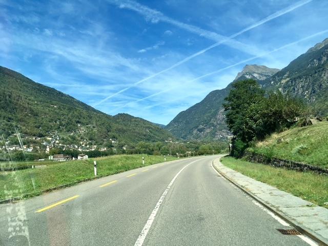 nachdem Gotthard Richtung Malvaglia...Ankunft in Sicht