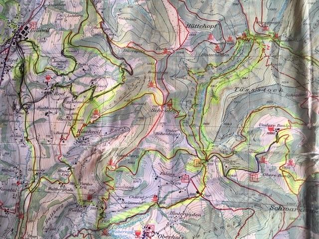Wanderkarte Zürcher Oberland Nr. 6