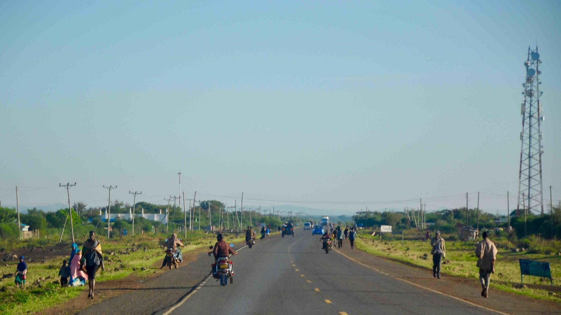 Auf dem Weg in den Norden Kenias.....