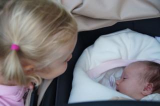 Die kleinste Besucherin - knapp drei Wochen alt :-)
