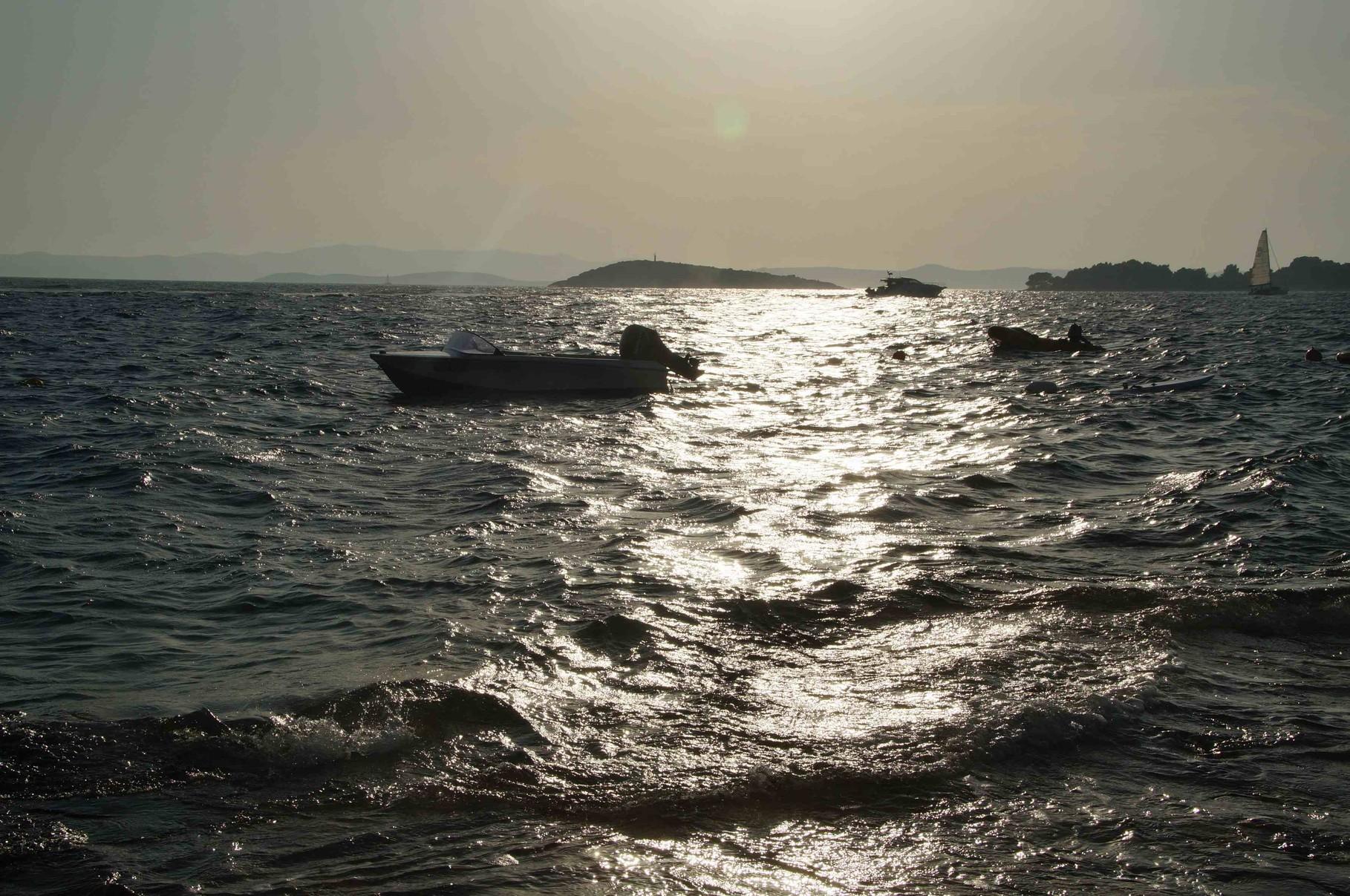 Abendstimmung auf dem Meer