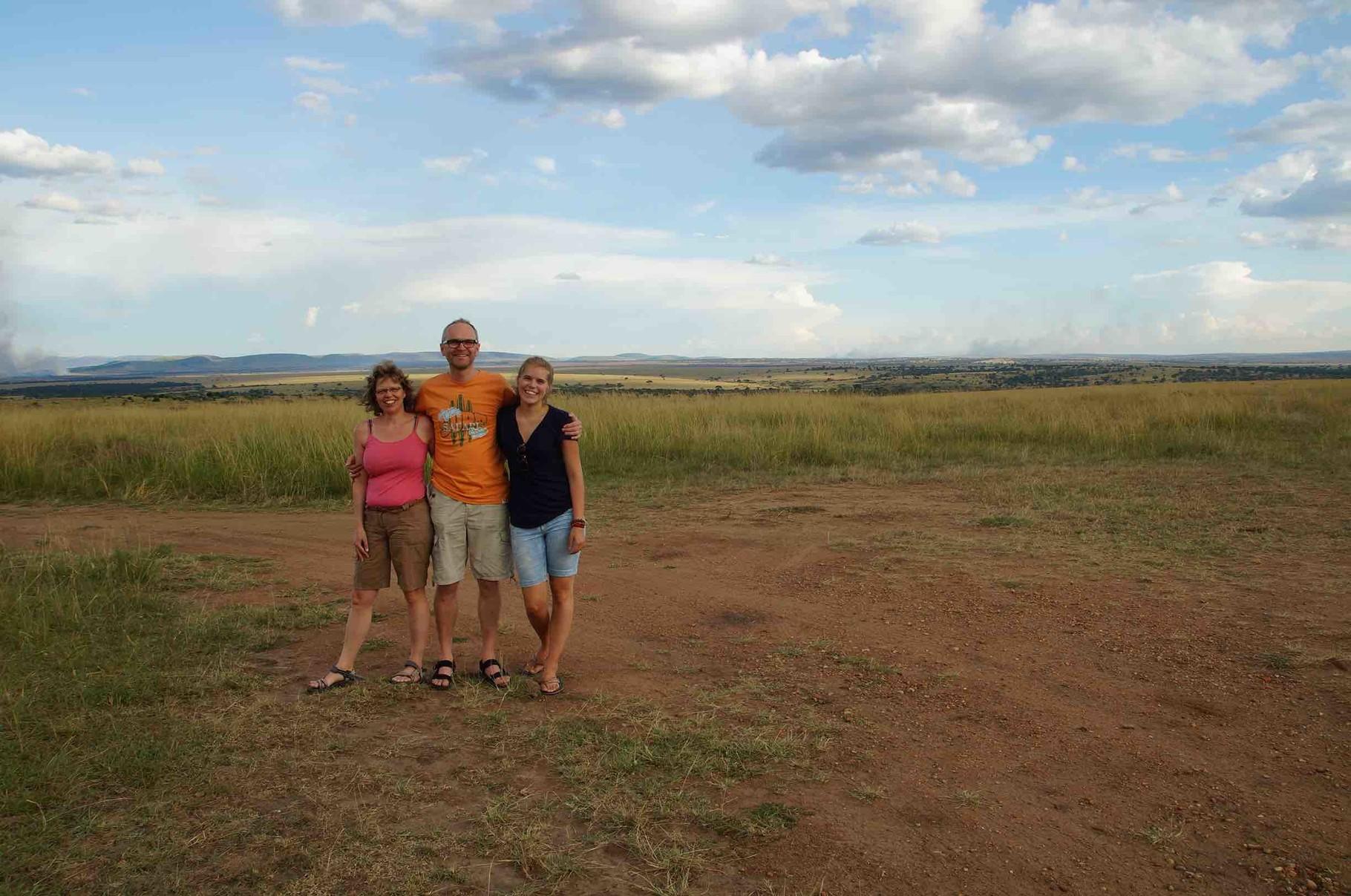 Familie Loos an der Grenze zwischen Kenia und Tansania
