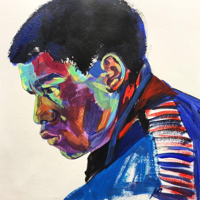 John Boyega as Finn / 40x40cm, acrylic on paper