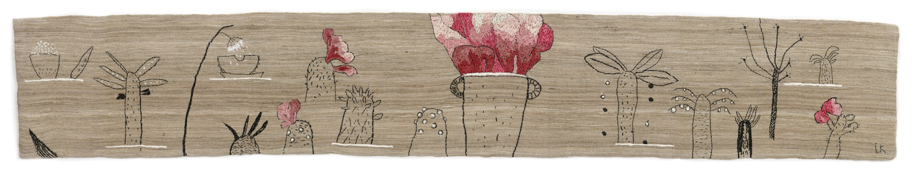 The forest / embroidery, raw silk, 15x65cm, 1999