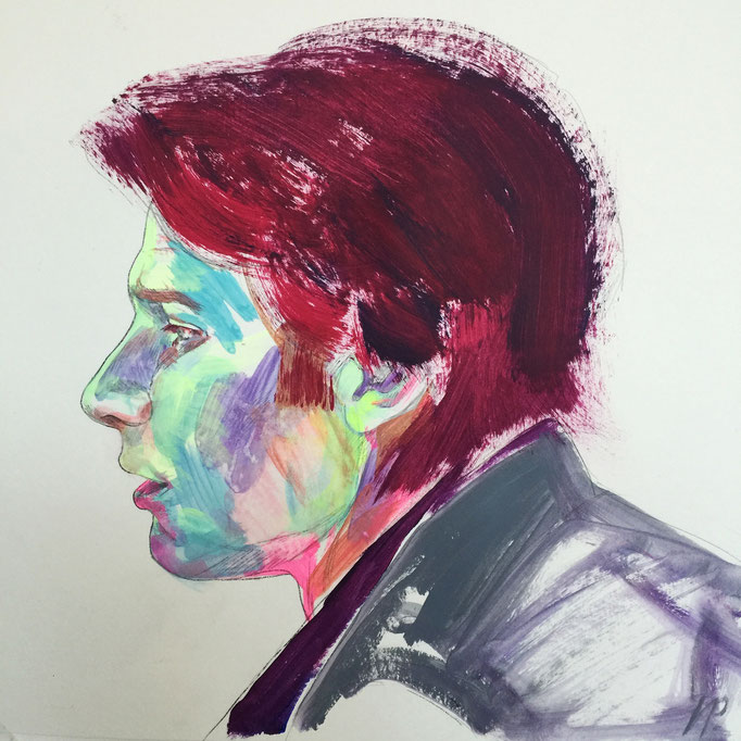 Harrison Ford as Han Solo / 40x40cm, acrylic on paper