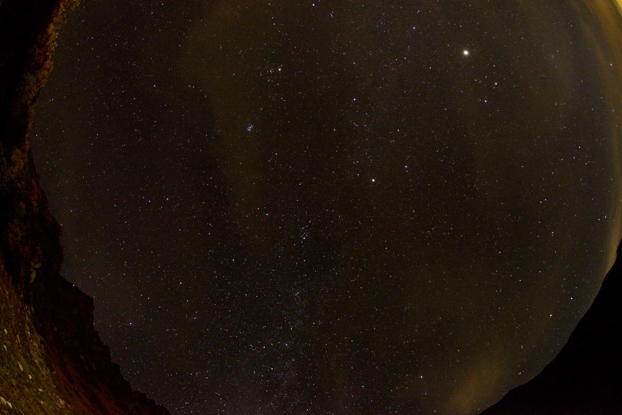 千畳敷カールでの高感度魚眼レンズ画像-2