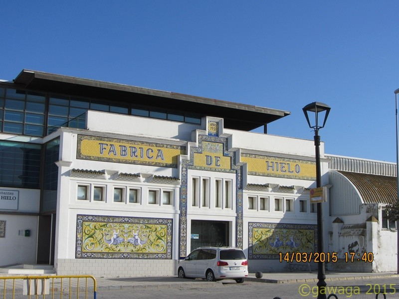 die alte Eisfabrik in Sanlucar de Barrameda