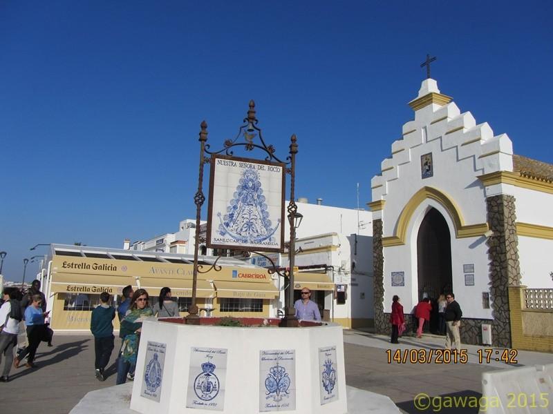 Brunnen zu Ehren der Virgen del Rocío