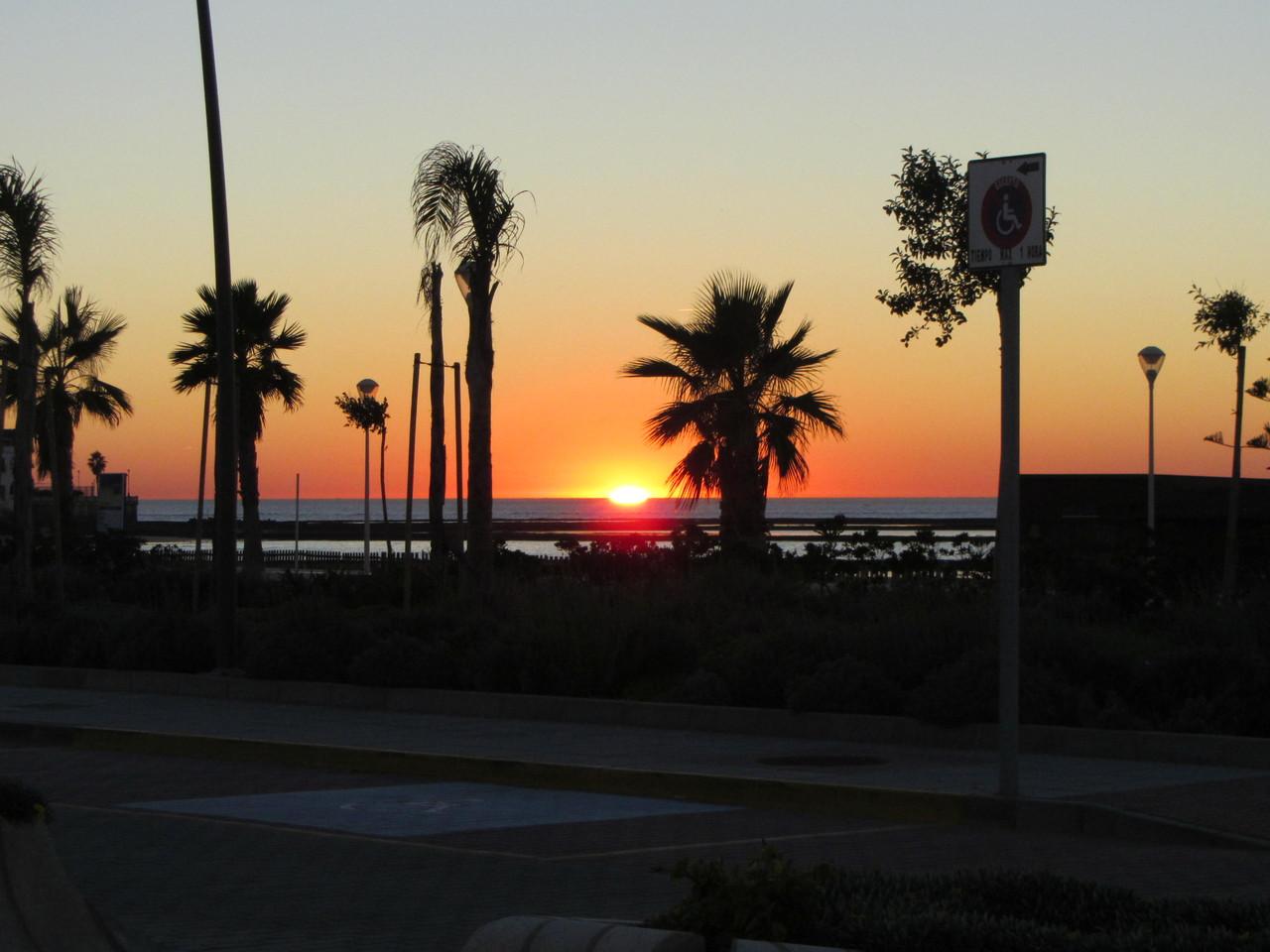 puesta del sol......