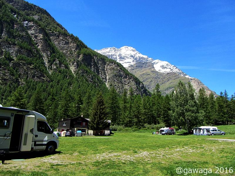auf dem Camping Attermenzen in Randa