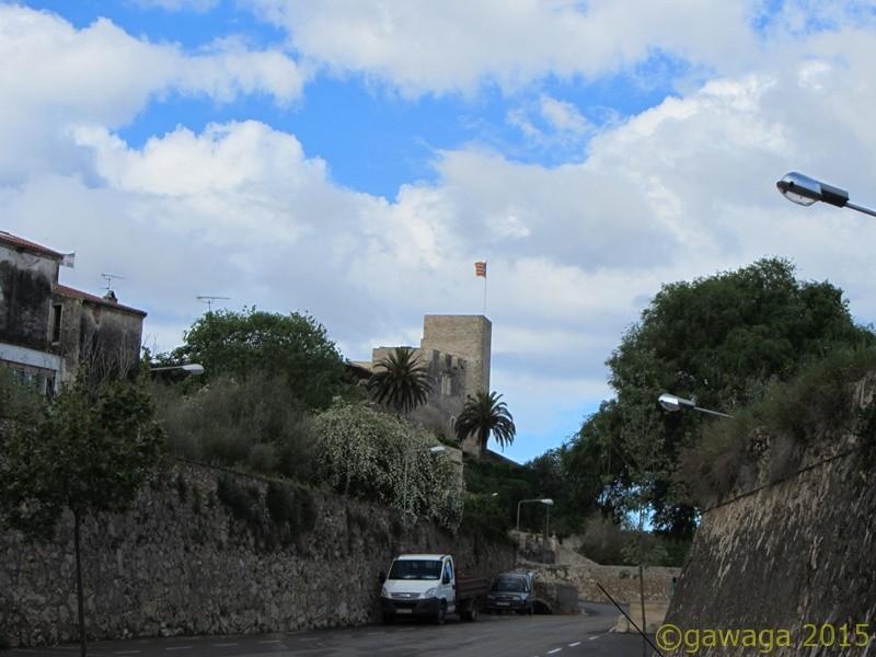 Blick vom SP zum Castillo