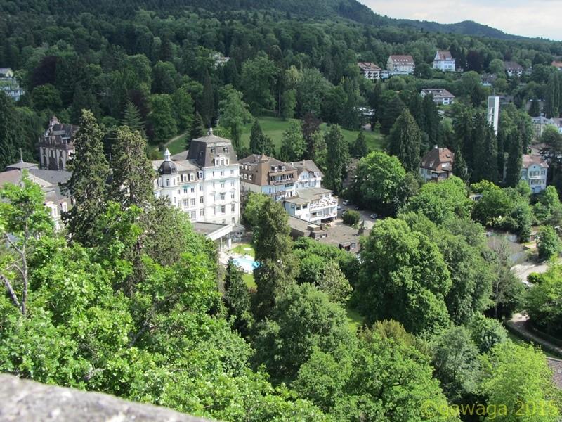 Blick von der Burg Baden