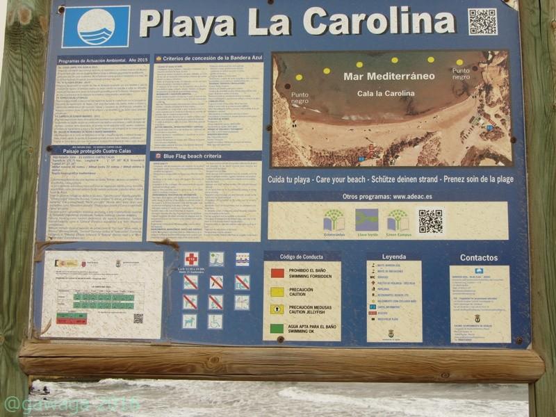 Hinweistafel Playa Carolina