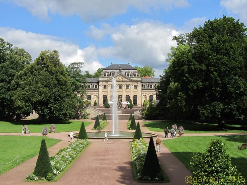 Schlossgarten und Schloss Fulda