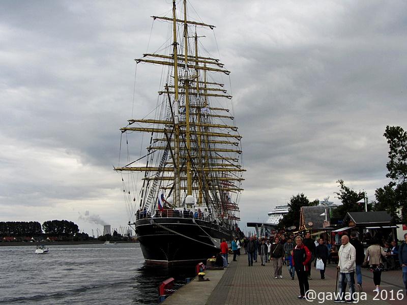 das russische Segelschulschiff KRUZENSHTERN