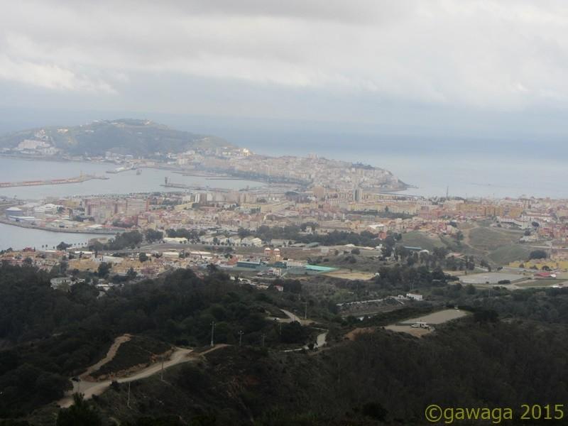 Aussicht vom Monte Garcia Aldave über die Stadt