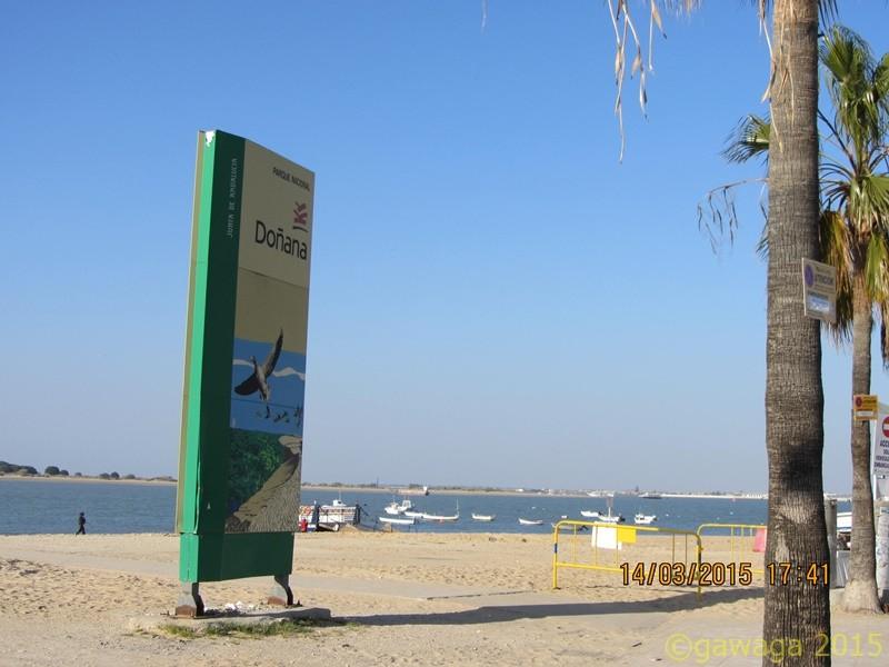 am Strand von Sanlucar gegenüber ist der Donana Nationalpark