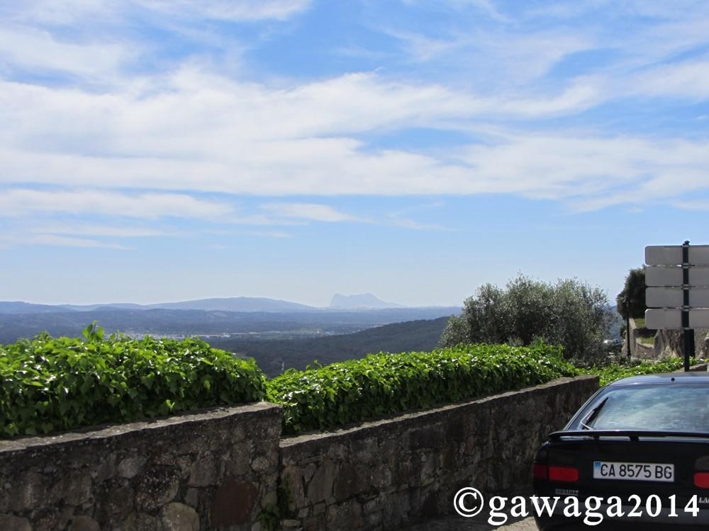 Blick vom Castillo de Castellar nach Gibraltar