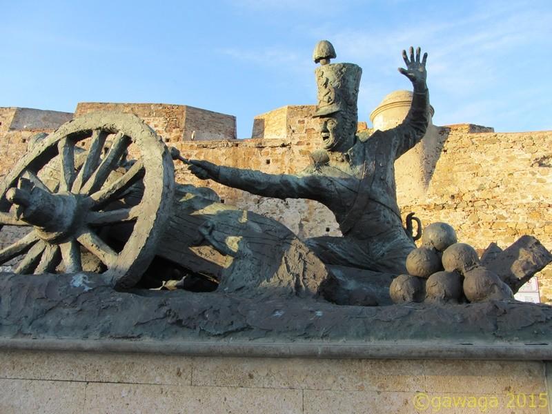 Artillerie Skulptur