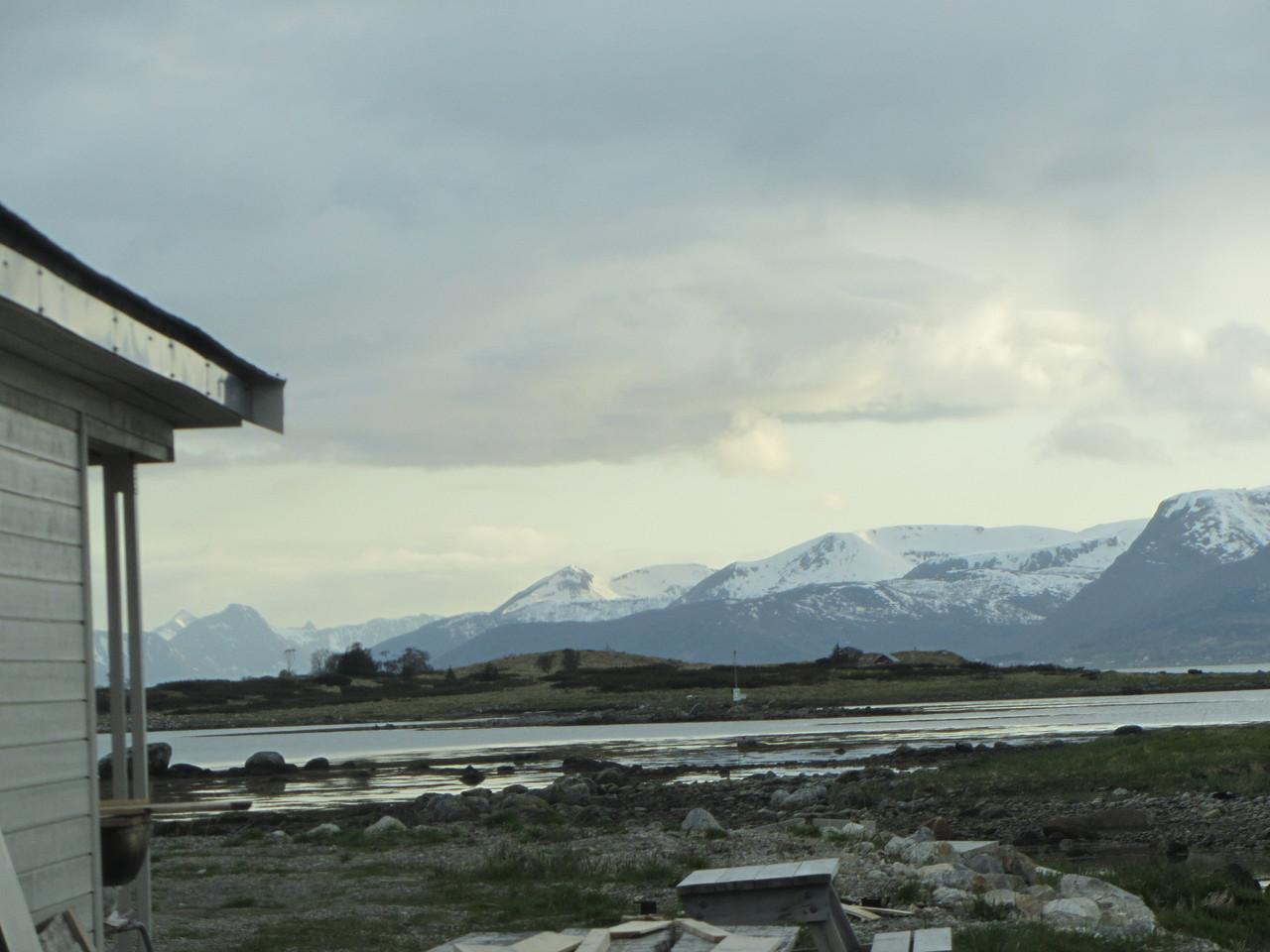 Unser Platz am Bootsanleger in Sigerfjord