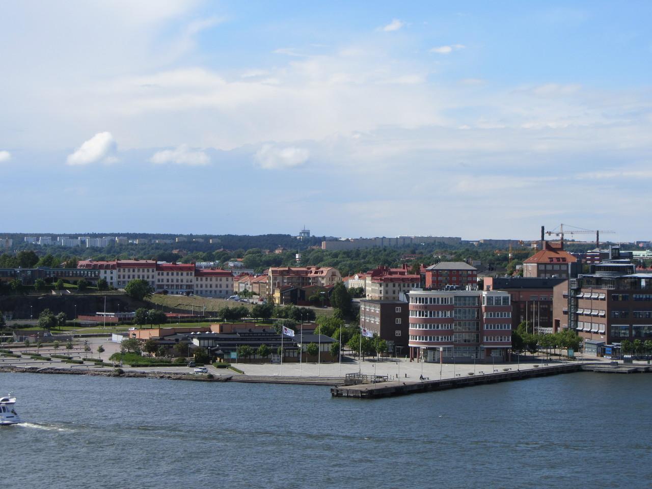 Blick auf Göteborg bei der Ausfahrt mit der Stena Line