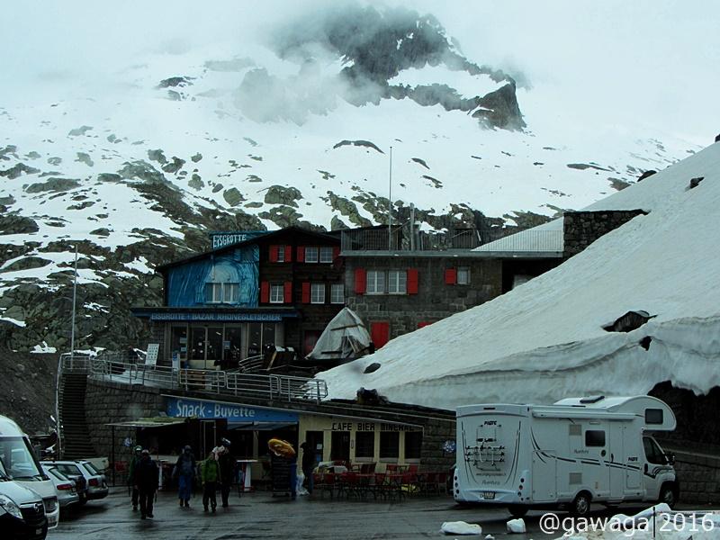 Parkplatz am Rhone-Gletscher