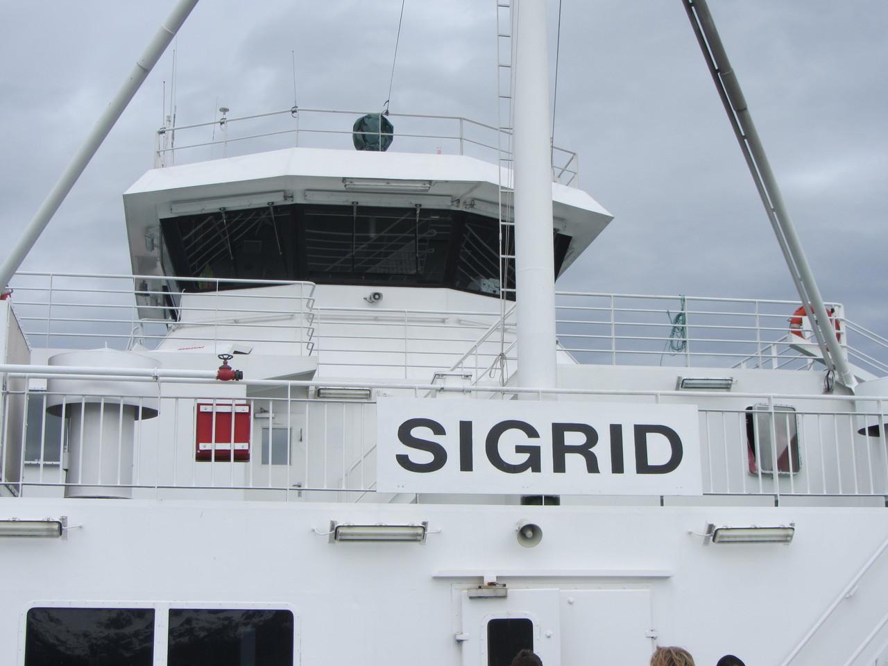 dann bringt uns Sigrid über