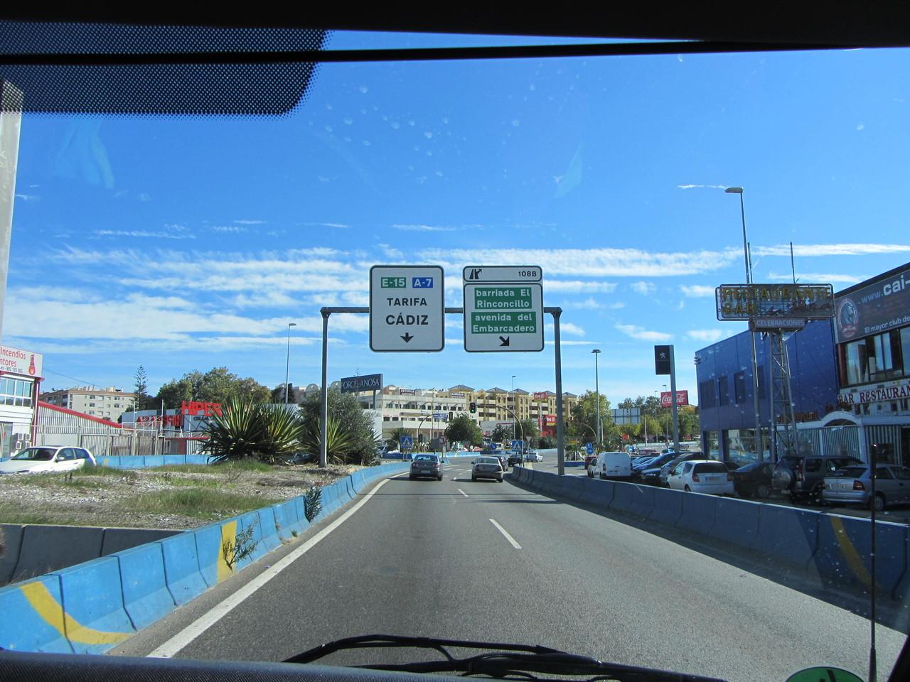 weiter geht´s durch Algeciras
