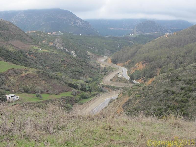 der 24 km lange Grenzzaun