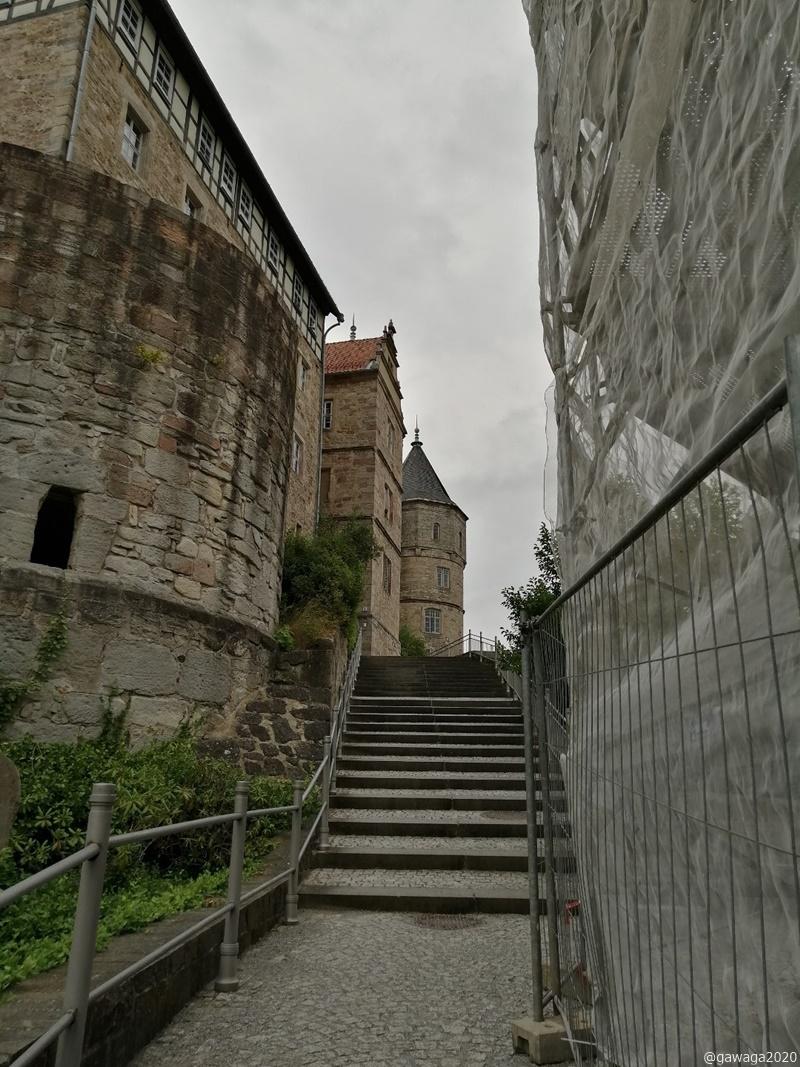 Aufgang zum Schloss Schleusingen