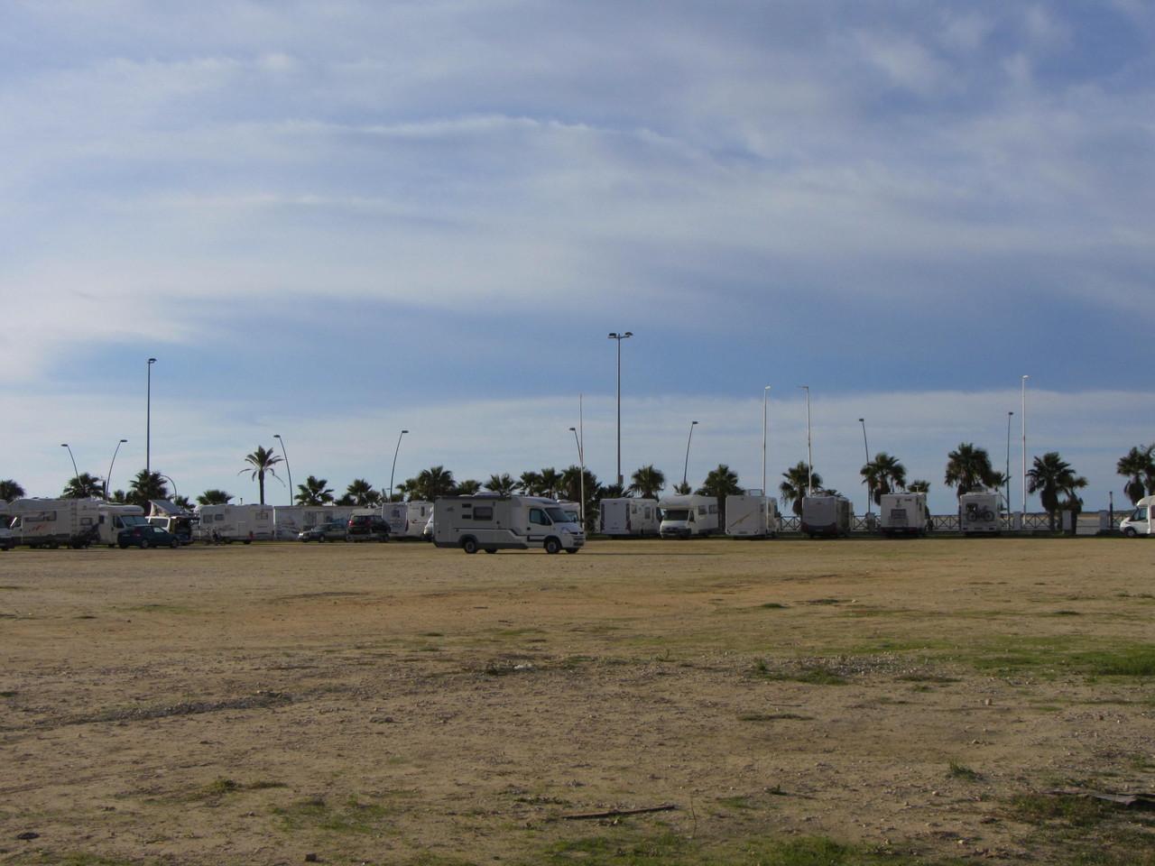 Parkplatz für Wohnmobile in Sanlúcar de Barrameda
