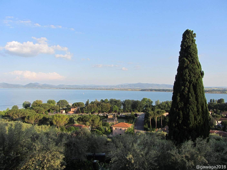 Blick zum See von der Burg aus