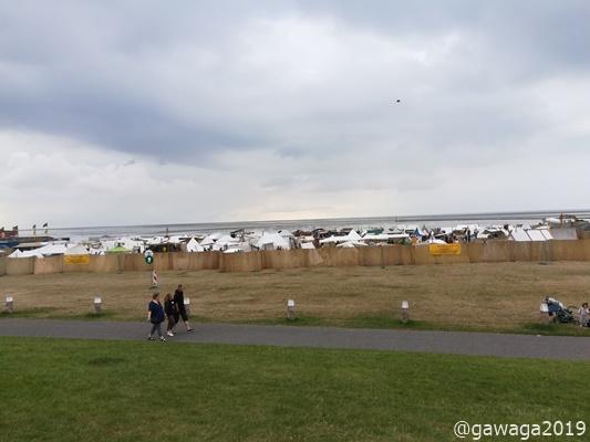 auf der Drachenwiese standen die Wikinger-Zelte
