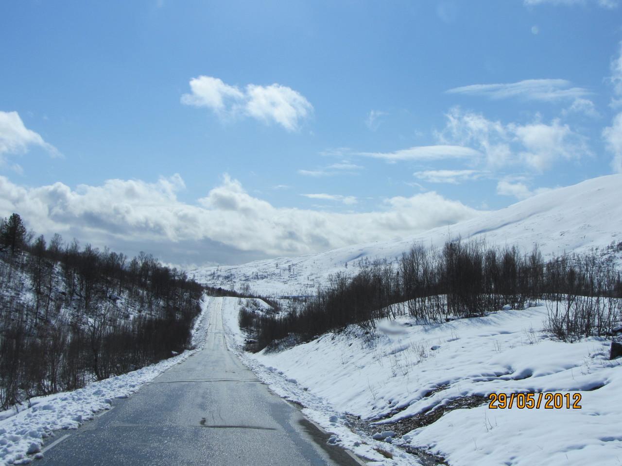 die Weiterfahrt nach Olderdalen