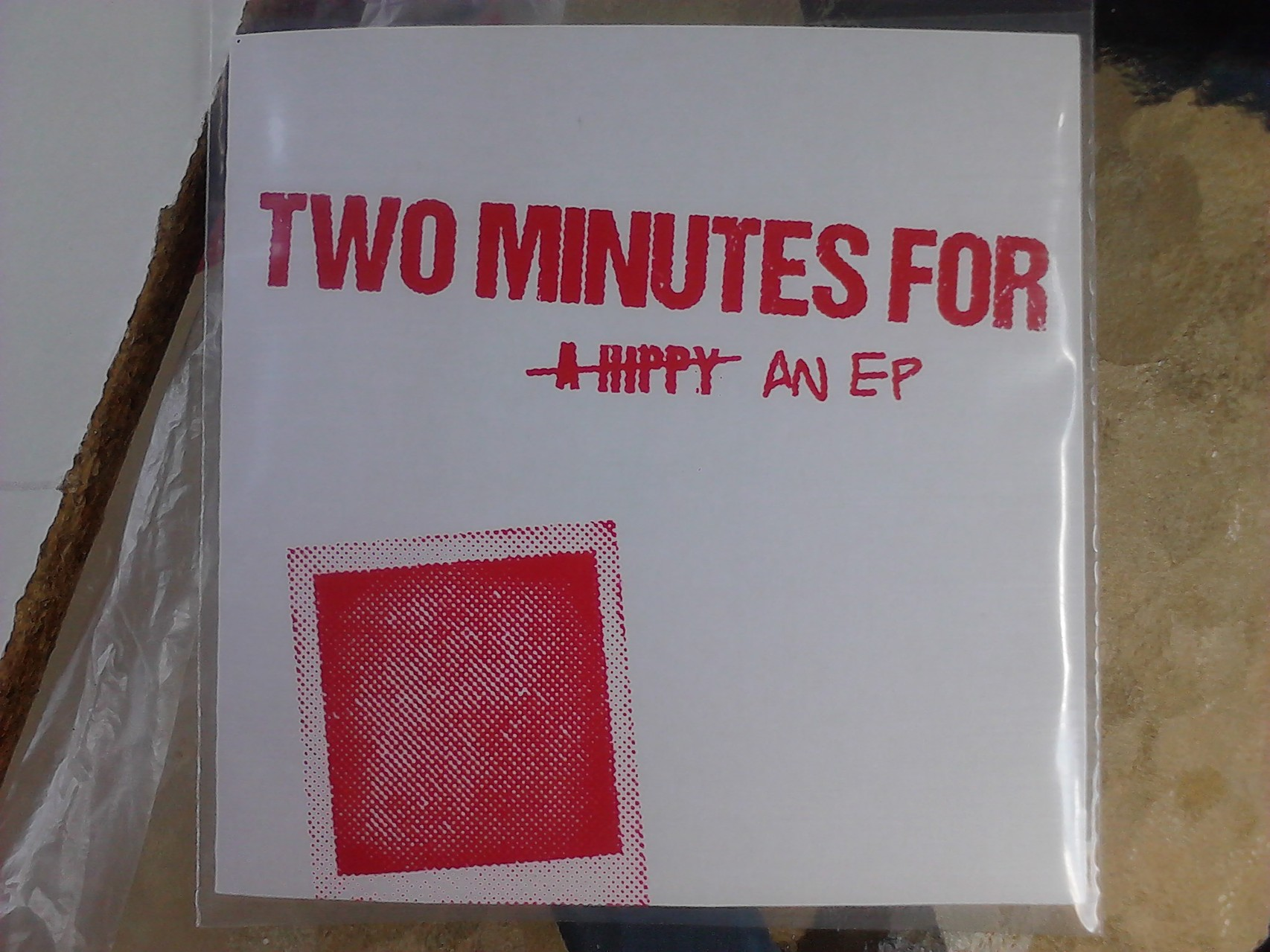 Two Minutes For - An EP record sleeves