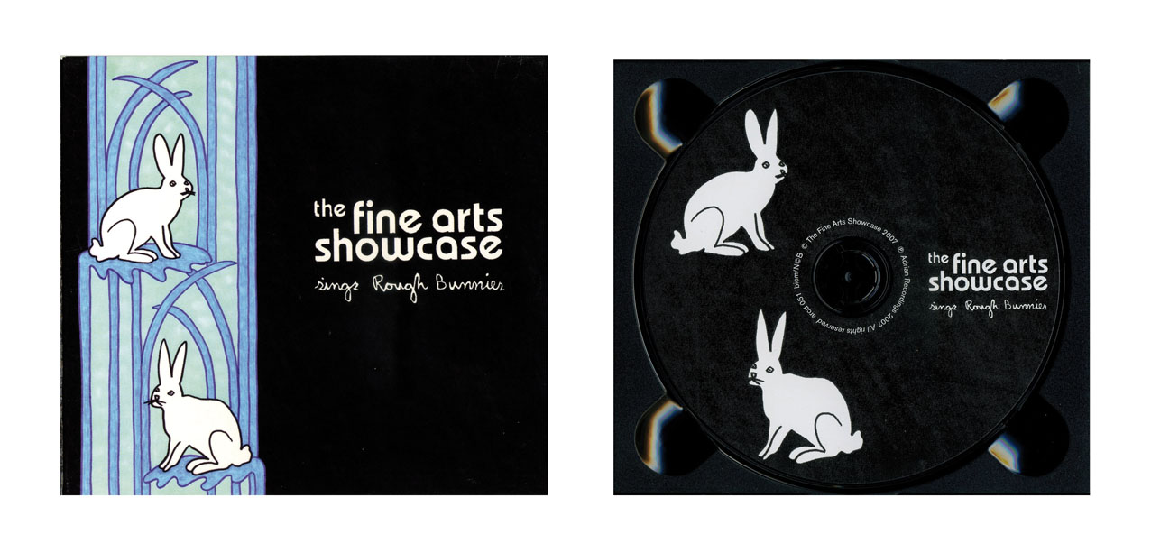 Illustration for record sleeve The Fine Arts Showcase Sings Rough Bunnies