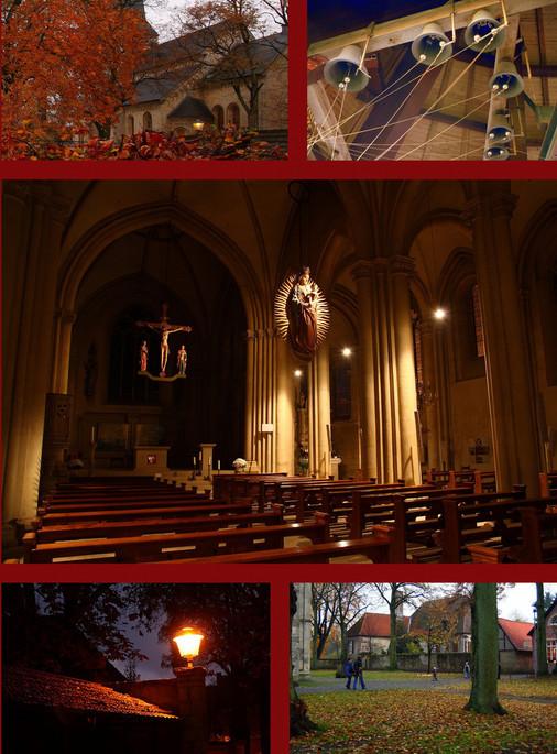 St. Johann, Billerbeck, Glocken läuten, beiern, Kerzenschein