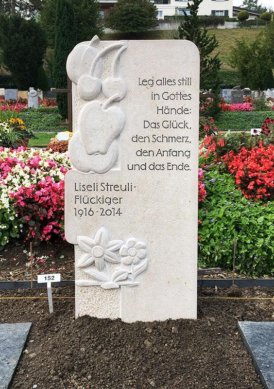 Grabzeichen Streuli
