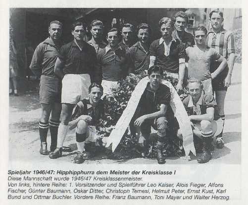 Die erste Meistermannschaft des SV Distelhausen