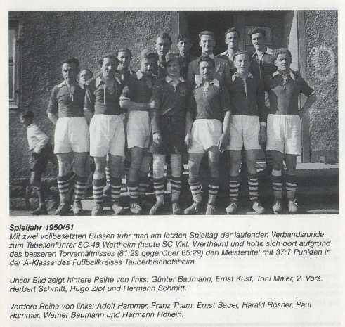 Meistermannschaft 1951