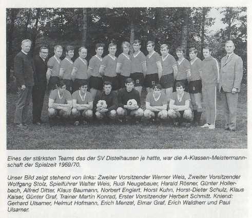 Meistermannschaft 1970 - das stärkste Team des SVD!?