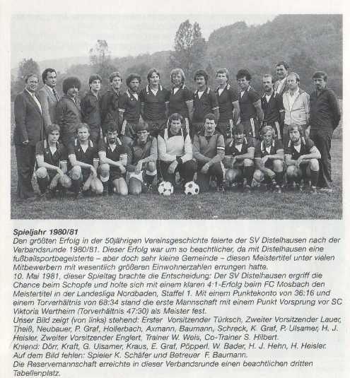 Meister, Mannschaft, SV Distelhausen