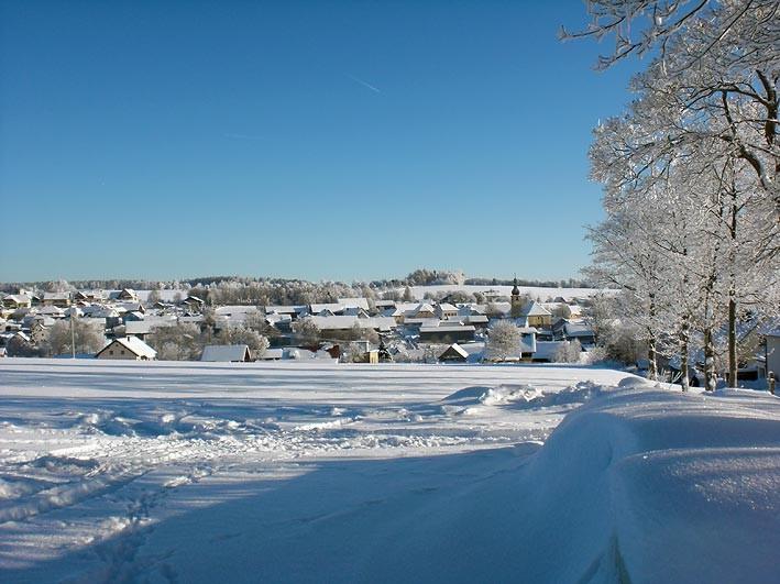 Mähring in der Oberpfalz im Winter