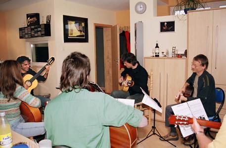 Flamenco-Workshop in den DOLA-Studios im Februar 2006